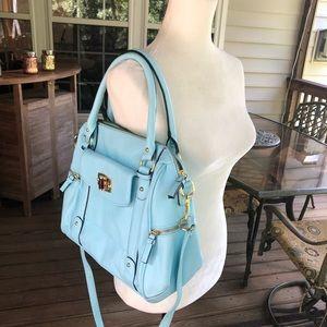 Merona turquoise purse